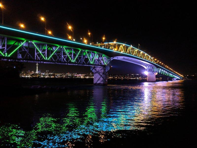 matariki festival 2018 vector lights on auckland harbour bridge
